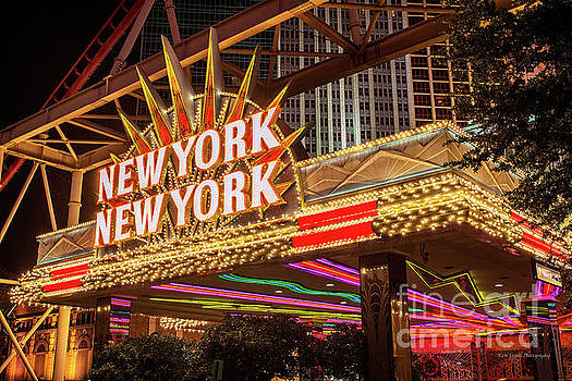 New York New York Neon Sign Entrance by Aloha Art