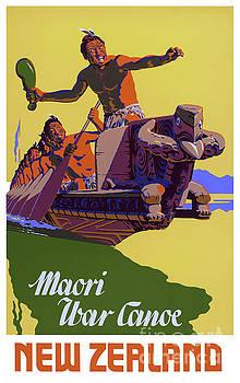 New Zealand Vintage Travel Poster Restored by Vintage Art
