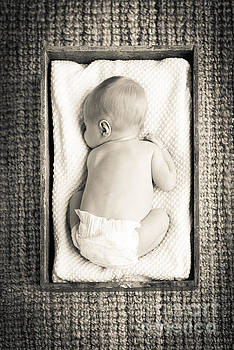 Tim Hester - Newborn Baby In Crate Filtered
