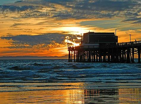 Newport Pier,  California by Everette McMahan jr