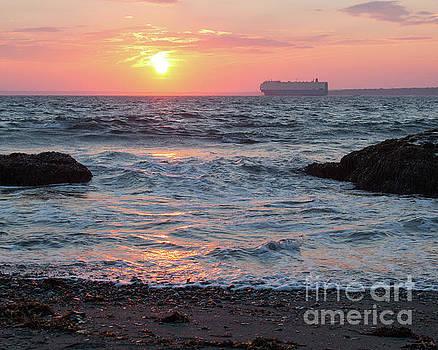 Newport Sunset 3 by Cheryl Del Toro