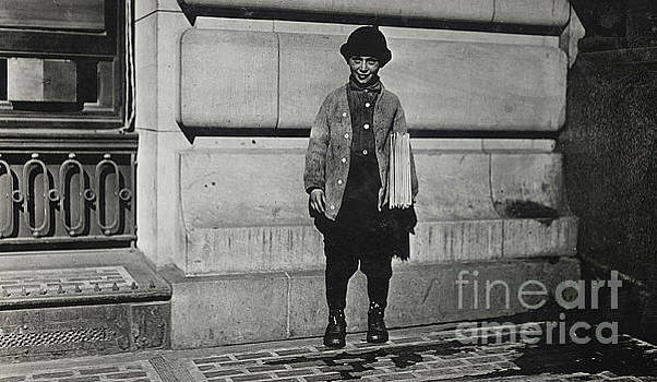 Newsboy, 1909 by Lewis Wickes Hine