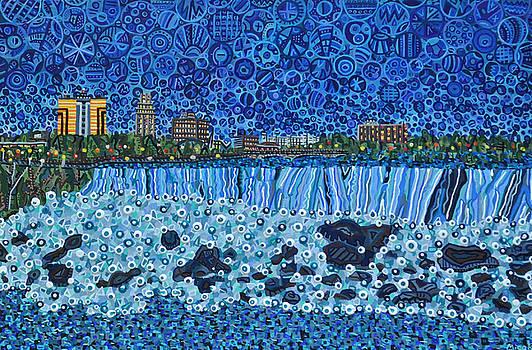 Niagara Falls - Night by Micah Mullen
