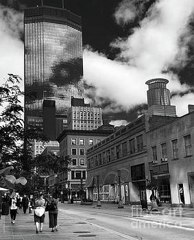 Nicollet Mall Minneapolis Black White by Wayne Moran