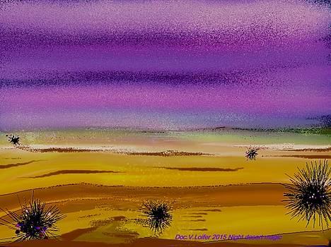 Night desert magic by Dr Loifer Vladimir