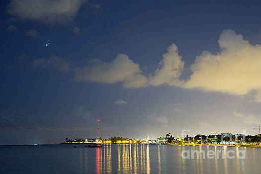 Night Lights over Ala Moana Beach Park by Charmian Vistaunet