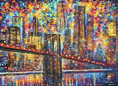 Night New York by Leonid Afremov
