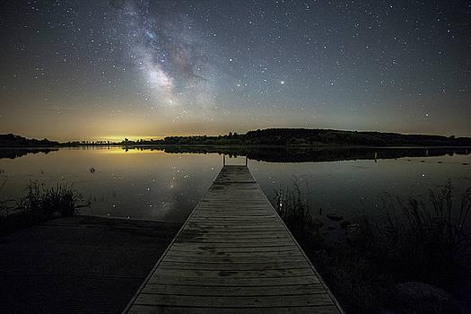 Night on the dock by Aaron J Groen
