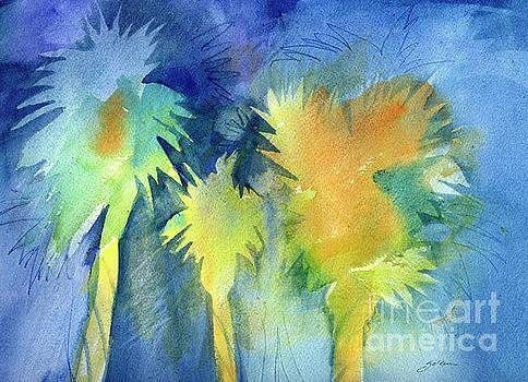 Night Palms by Sheila Golden