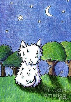 Night Sky Westie by Kim Niles