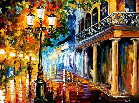 Night Transformation - PALETTE KNIFE Oil Painting On Canvas By Leonid Afremov by Leonid Afremov