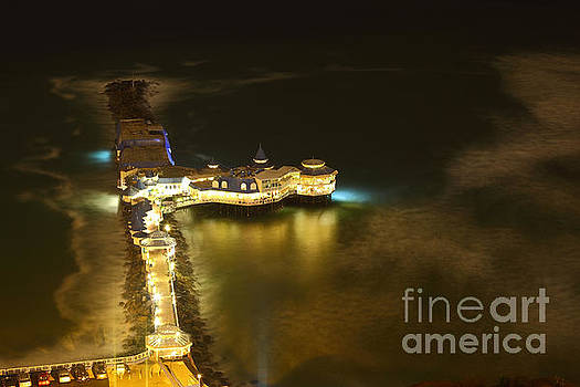 James Brunker - Night View of Rosa Nautica Restaurant Lima