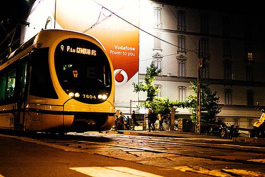 Night walk in Milan by Cesare Bargiggia