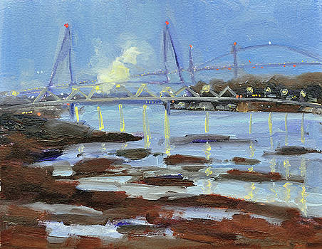 Nightfall on the River by Mary Byrom