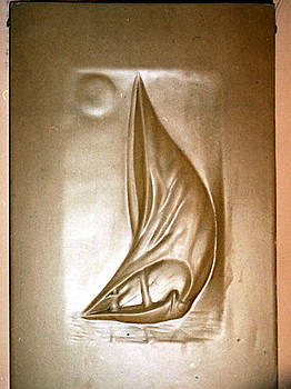 Nile Boat by Wall sculpture artist Ahmed Shalaby
