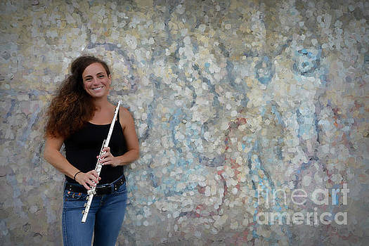 Nina at the flute wall by Dan Friend