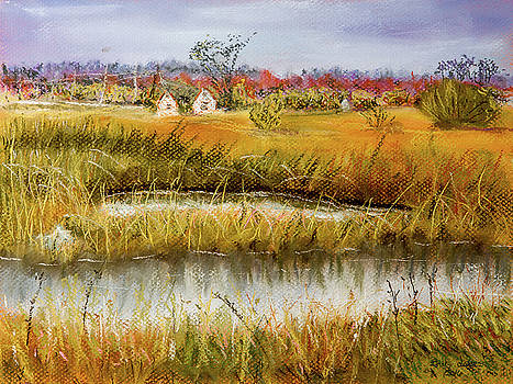 Nisqually in Fall - Landscape by Barry Jones