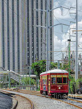Nola Red Streetcar Riverfront 3 by Kathleen K Parker