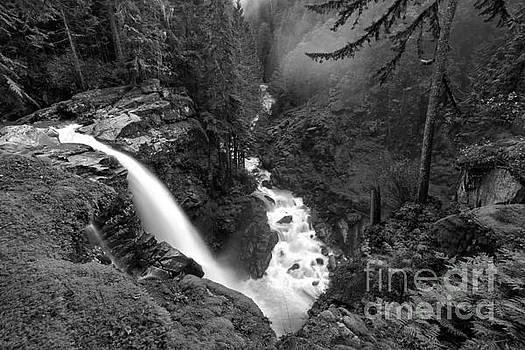 Adam Jewell - Nooksack Falls Landscape - Back And White