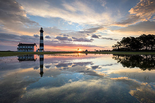 North Carolina Bodie Island Lighthouse Sunrise by Mark VanDyke