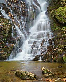 North Carolina Waterfall Eastatoe Falls by Bill Swindaman