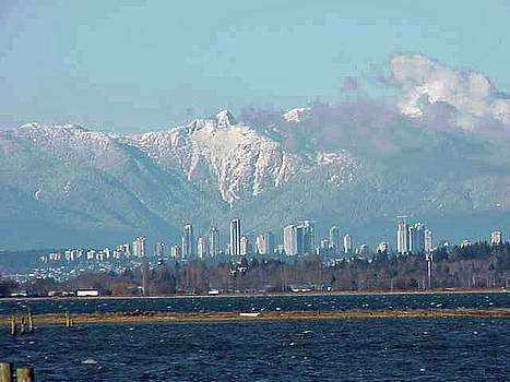 North Shore Mountain Range Vancouver Canada 2005 by Jay Milo