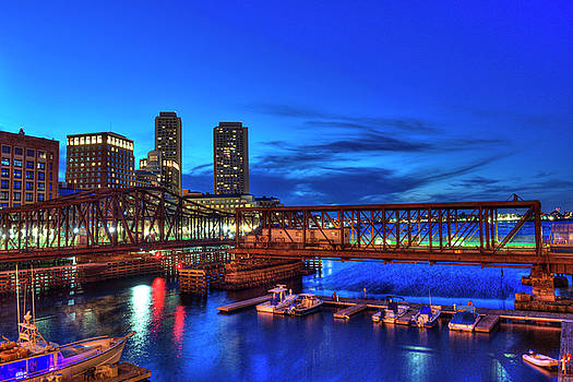 Northern Avenue Bridge - Boston by Joann Vitali