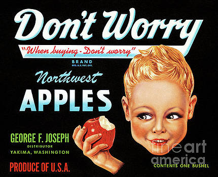 Northwest Apples Vintage Label Restored by Carsten Reisinger