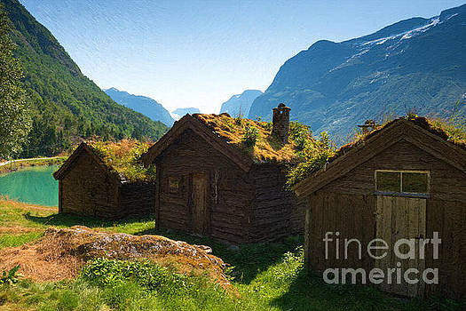 Norwegian Huts by Andrew Michael
