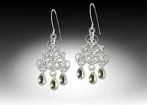 Norwegian style earrings by Jeanne  Rhodes-Moen