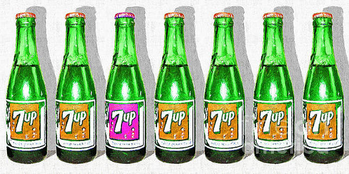 Wingsdomain Art and Photography - Nostalgic Vintage Pop Art 7up Seven Bottles 20160220