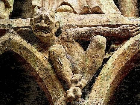 Notre Dame Gargoyle - Paris by Jen White