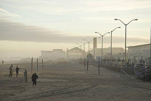 November on the Beach Asbury Park by Andrew Kazmierski