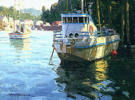 Noyo Harbor Shadows by Ned Mueller