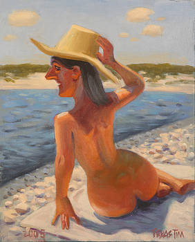 Nude Bather at Lake Amistad by Texas Tim Webb