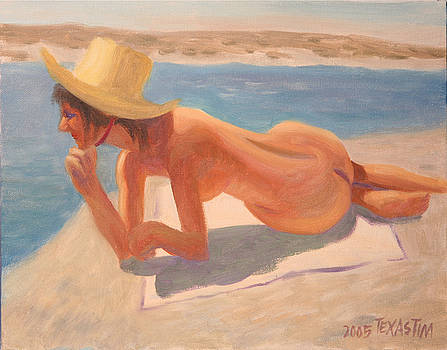 Nude Lady Reposing at the Lake by Texas Tim Webb