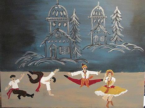 Nutcrackers Dance Of Russian Cossacks by Sharyn Winters