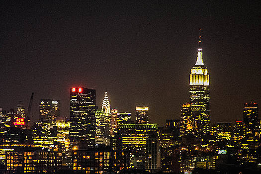 NYC at night by Kathleen McGinley