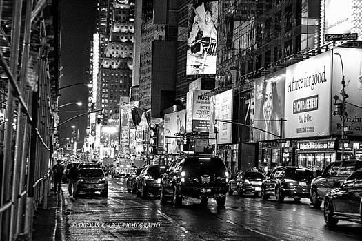 NYC at night by Thomas Mack