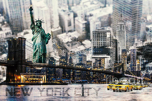 NYC - collage by Hannes Cmarits
