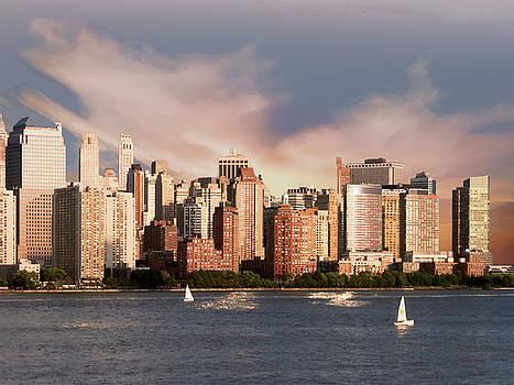 NYC Lower Manhattan Skyline by Marcia Socolik