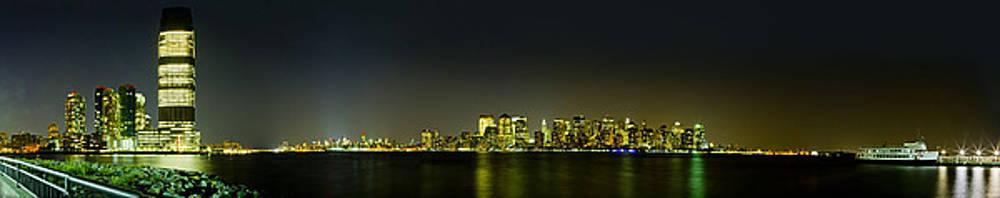 Val Black Russian Tourchin - NYC Night Skyline Panorama 1