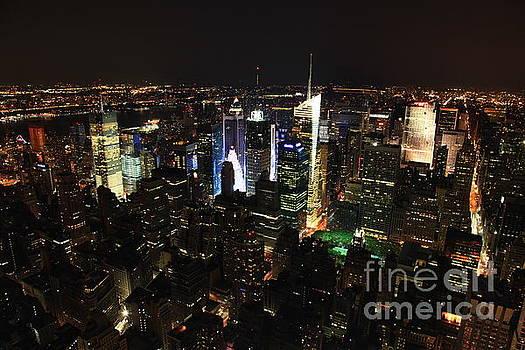 NYC Skyline at Night I by Wayne Moran