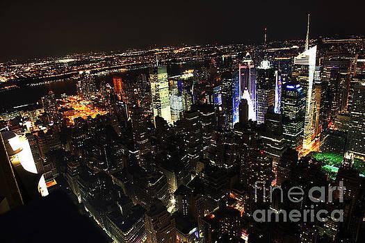 NYC Skyline at Night II by Wayne Moran