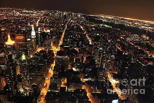 NYC Skyline at Night III by Wayne Moran