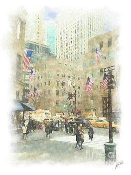 NYC Street Scene by Erika Weber