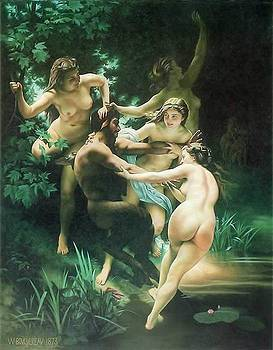 Nymphs et Saytr  by Bouguereau by Van Cordle