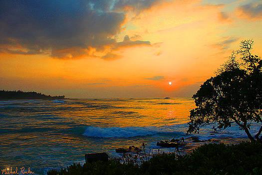 Oahu Sunset Hawaii by Michael Rucker