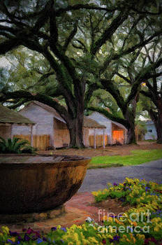 Oak Alley Evening - painted by Kathleen K Parker