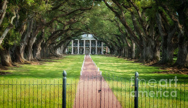 Kathleen K Parker - Oak Alley Plantation Painting - Digital